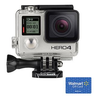 Check Value Of Walmart Gift Card - gopro hero4 silver edition action camcorder with 50 walmart gift card bundle