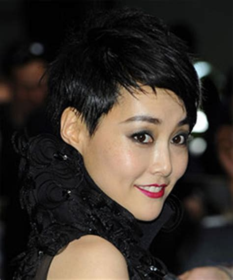 rinko kikuchi short hair asian hair styles in spotlight