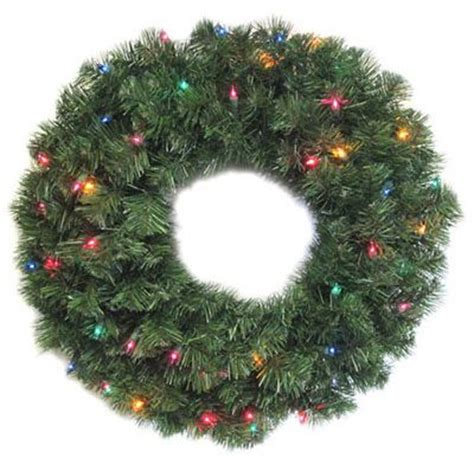 walmart pre lit wreath with battery and timer 48 quot pre lit canadian pine artificial wreath clear lights walmart