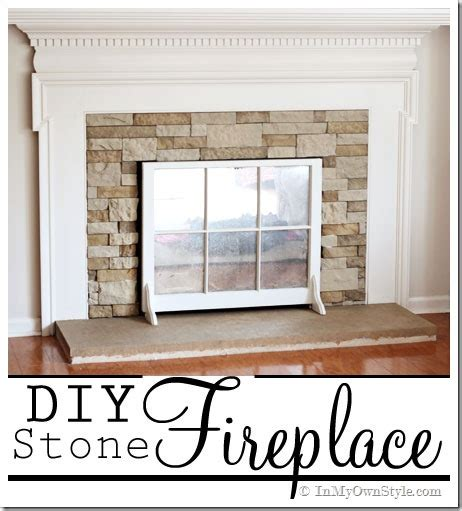 Fireplace Coverings Do Yourself by Airstone Fireplace Makeover On A Diy Budget Inmyownstyle
