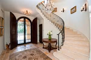 wrought iron stair railings staircase mediterranean with spanish style old floor