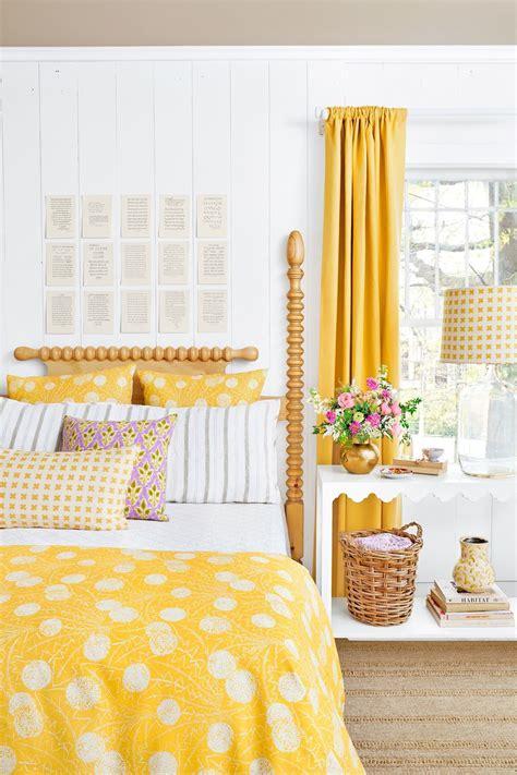 inspirasi desain warna kuning  kamar