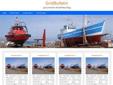 grid layout wordpress theme free gridbulletin a simple grid based wordpress theme the