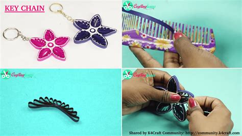 How To Make Paper Key - paper quilling how to make key chain from quilling