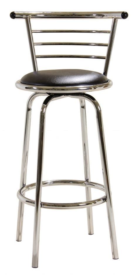 black and chrome kitchen bar stools kitchen bar stool in chrome and black faux leather