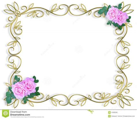 Wedding Invitation Card Border by Border Designs For Invitations Flowers Border Design