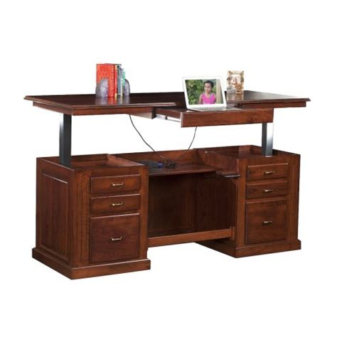 Sit Stand Executive Desk Sit To Stand Desk