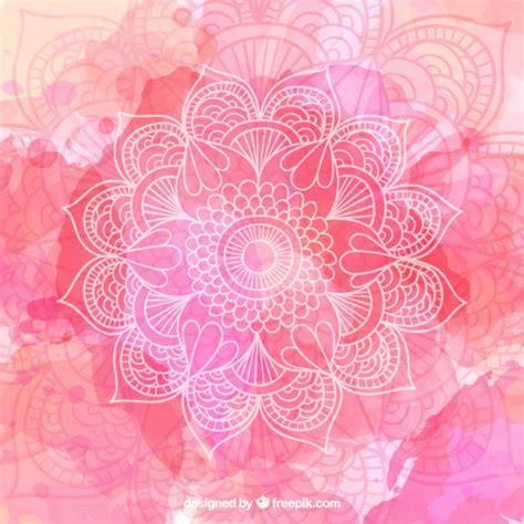 watercolor ohm fondo de acuarela con mandala dibujado a mano descargar vectores gratis