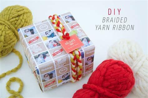 diy braided yarn ribbon easy and cheap holiday gift
