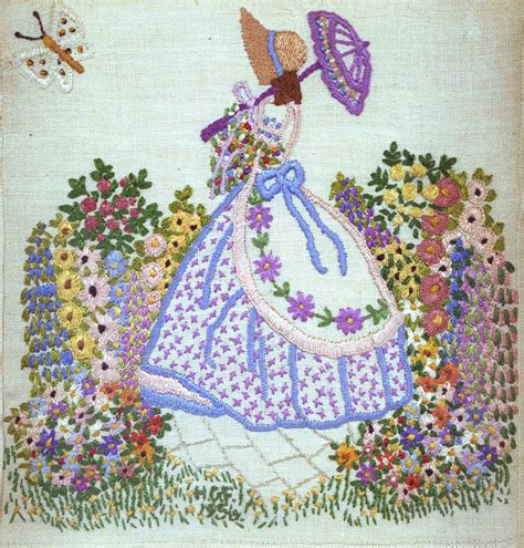 embroidery design ladies embroidery crinoline lady stiches pinterest