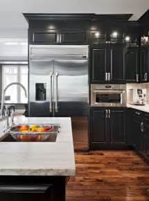 Black Cabinet Kitchens 25 Best Ideas About Black Kitchens On Modern Kitchen Design And