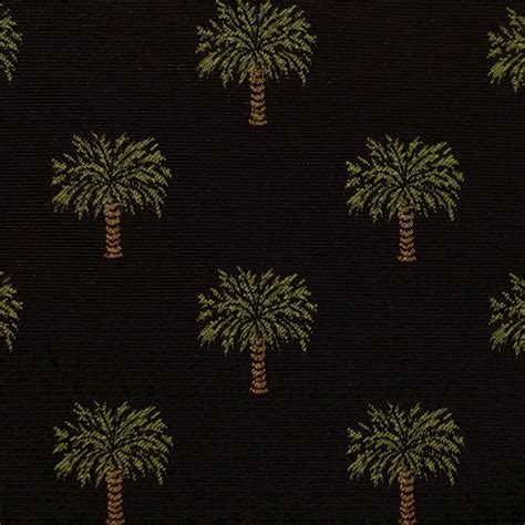 palm tree upholstery fabric ebony black onyx teflon classic palm tree woven upholstery