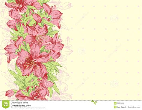 Floral Background Template Royalty Free Stock Image   Image: 31723336