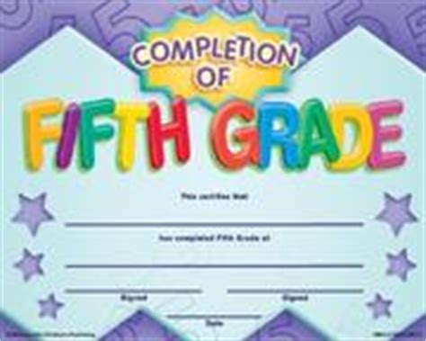completion of fifth grade fit in a frame award award