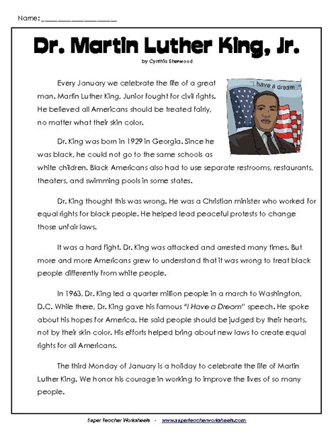 martin luther king printable activity sheets martin luther king worksheets for kids teacher