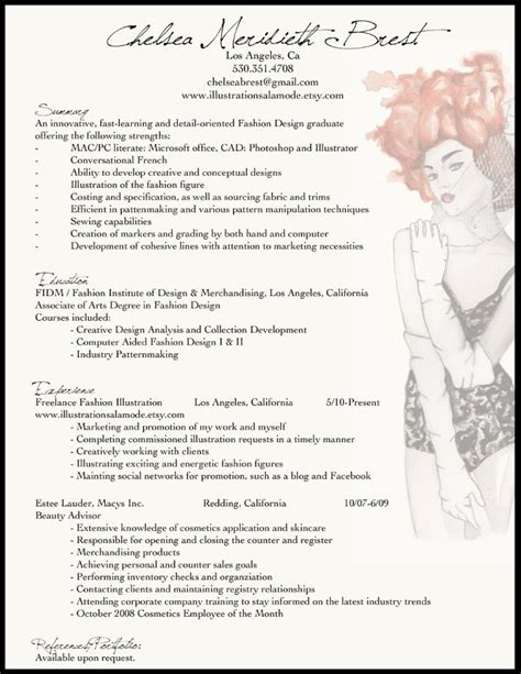 Fashion Designer Resume by Best 25 Fashion Resume Ideas On Fashion Cv