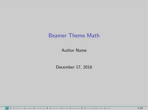 beamer themes sty progress bar for latex beamer tex latex stack exchange