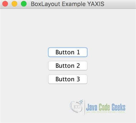 java swing boxlayout java swing boxlayout exle exles java code geeks 2018