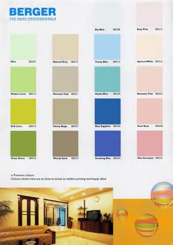 Bergere Home Interiors by Berger Paints Interior Colour Chart Berger Paints