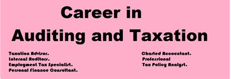 Mba In Accounting And Taxation In India by Career In Auditing And Taxation Entrancedisha