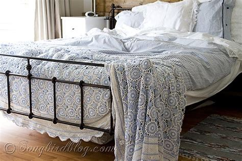 homegoods bedding summer bedroom decoration with vintage blue bedspread at