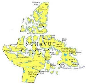map of canada nunavut map of nunavut canada search maps
