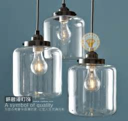 Glass Jar Pendant Light 1 Vintage Retro Clear Glass Bottle Pendant Light Jar Hanging L Shade Kitchen Dining