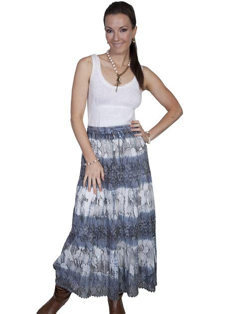 scully 174 tie dye stencil western skirt