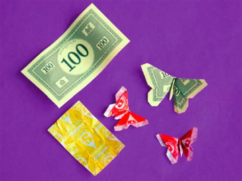 Gum Wrapper Origami - wrapper origami butterflies family crafts