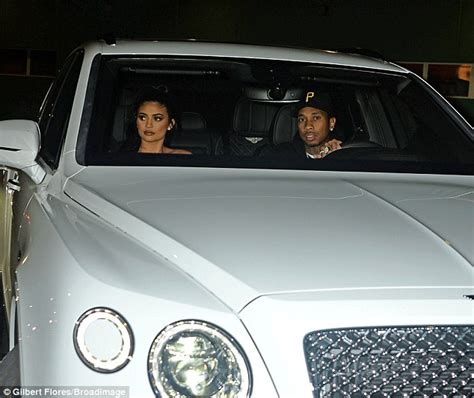 tyga bentley truck kylie jenner and tyga hit the town in the new bentley she