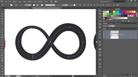 infinity sign text illustrator tutorial crafting an infinity symbol to match