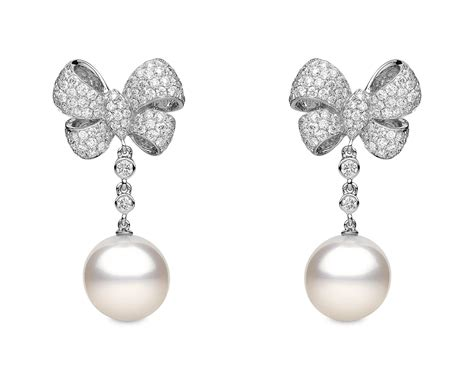 Bow Pearl Drop Earring pearl bow earrings 27 bow and pearl earrings black white