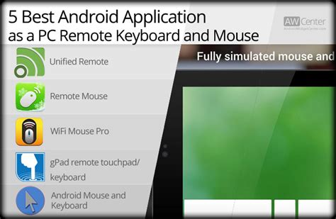 mouse app for android turn your android device into a pc remote keyboard mouse