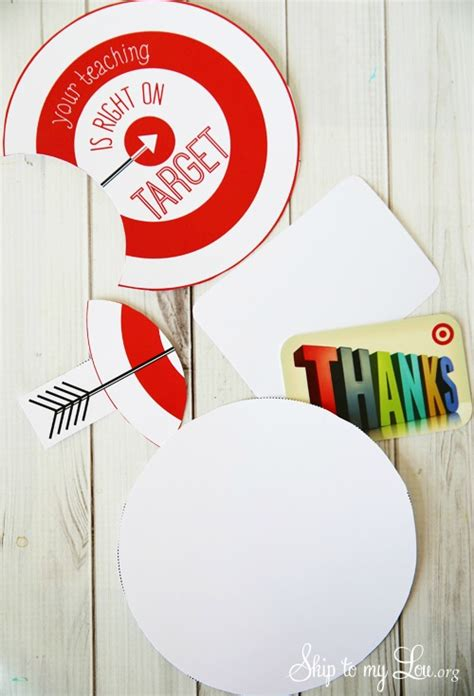 Target Gift Card Printable - teacher appreciation printables ways to show your teacher you are thankful