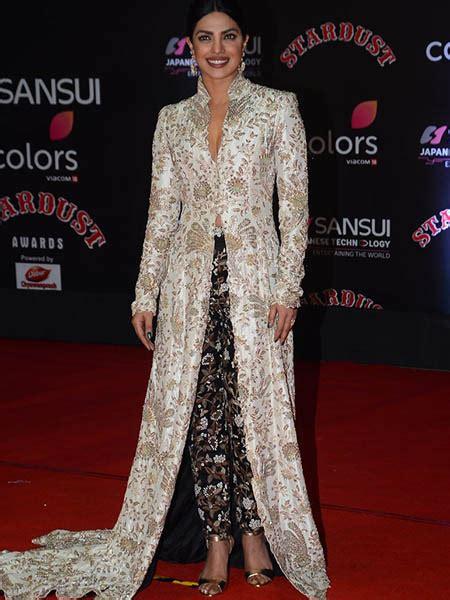priyanka chopra in ethnic wear stardust awards 2016 the best ethnic looks on the red