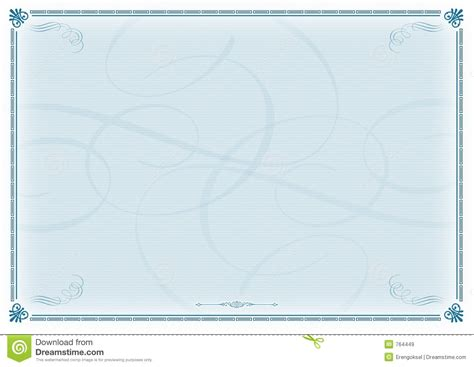 certificate template blue stock image image of victory