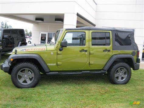 rescue green jeep 2010 jeep wrangler unlimited mountain edition 4x4 in