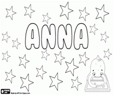 coloring pages of the name anna girl names with a coloring pages printable games