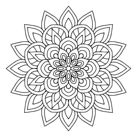 cute mandala coloring pages a cute floral mandala vector free download