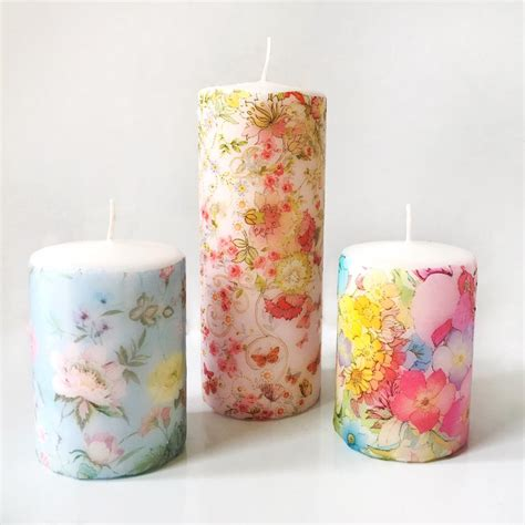 candele decoupage make create decoupage candles that s so gemma