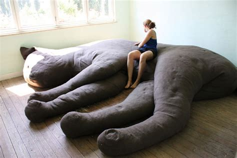 cat couch giant cat couch lets you sit on your cat s lap technabob