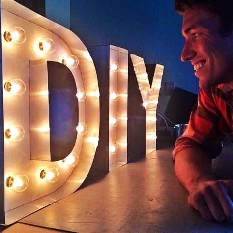 light up letters diy diy marquee letter light up lights robeson design
