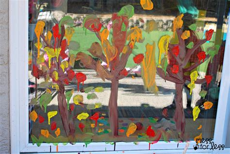 Fenster Bemalen Herbst by Fall Tree Window Painting Mess For Less