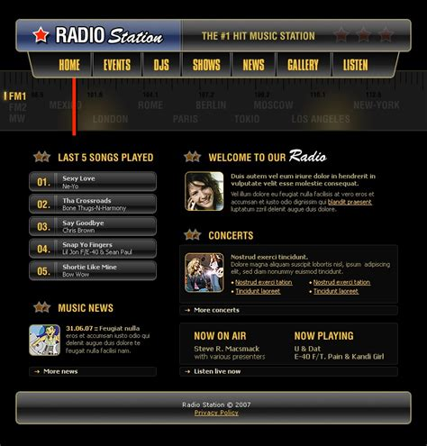 templates for radio website radio website website template 17060