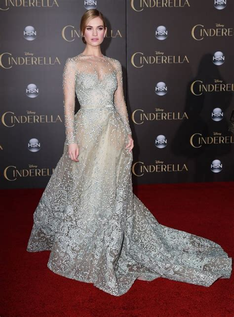 lily james on cinderella waist controversy why do disney s cinderella los angeles premiere hollywood hiccups