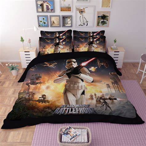 queen size star wars bedding 4pcs queen size star wars battle front 01 bedding set