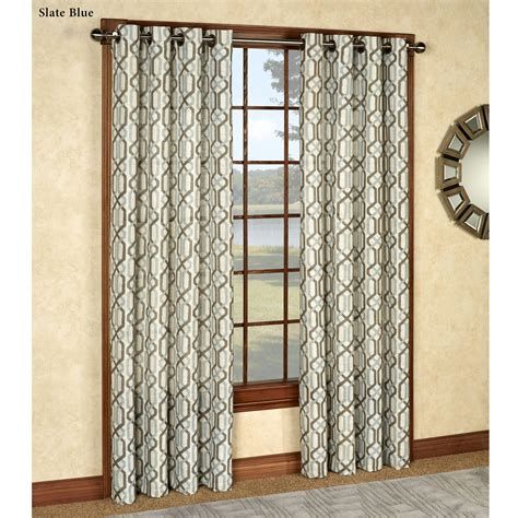 pattern grommet curtains creston patterned grommet curtain panels