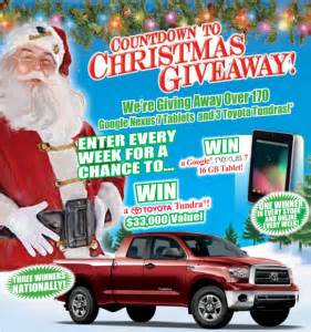 Bass Pro Toyota Tundra Sweepstakes - bass pro countdown to christmas giveaway win a 2013 toyota tundra