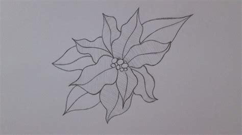 floreros para una flor c 243 mo dibujar una flor de navidad youtube