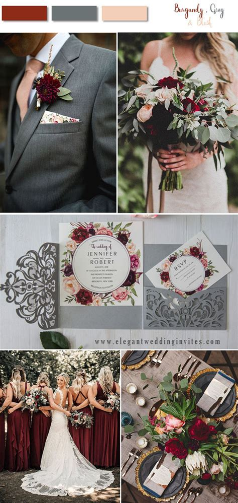 8 Stunning Fall & Winter Wedding Color Combos with